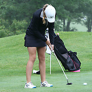 Jennifer Cleary of Wilmington, DE, putt on the 11th hole during the girls 2015 Delaware junior championship at Chesapeake Bay Golf Club Thursday, July 03, 2015, in Rising Sun, Maryland.