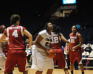 "Ole Miss' Nikki Byrd (22) at the C.M. ""Tad"" Smith Coliseum in Oxford, Miss. on Thursday, January 12, 2012."