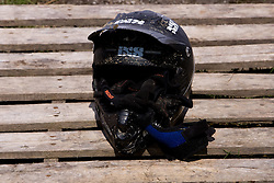 Helmet at 5th European Championship in the 4-cross, on June 27, 2009, in Sport centre Pale, Ajdovscina, Slovenia. Due to bad weather conditions, the final part of the competition was cancelled. The results from the qualification part were called official. (Photo by Vid Ponikvar / Sportida)