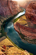Horseshoe Bend on the Colorado River. Glen Canyon near Page, Arizona.
