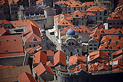 Views of the Old Town of Dubrovnik Church Of Saint Blaise from above