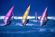 Image of windsurfers on the north shore of Maui, Hawaii, Hawaiian Islands