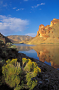 Lake Owyhee at Leslie Gulch; BLM National Backcountry Byway, southeast Oregon.