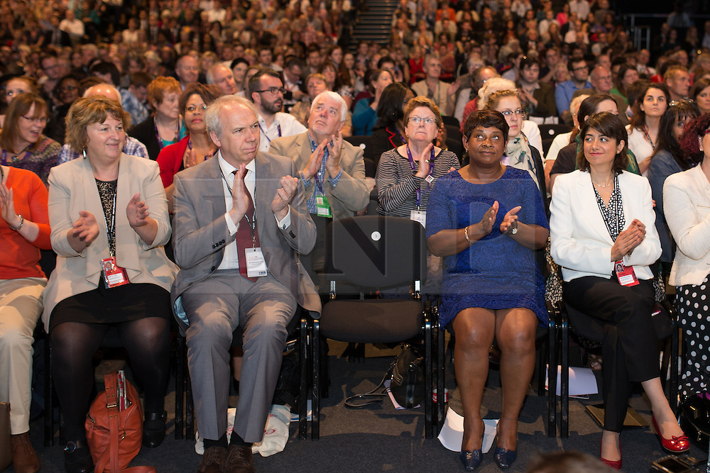 © Licensed to London News Pictures . 25/09/2013 . Brighton , UK . Guest speaker , DOREEN LAWRENCE OBE , sits in the audience after addressing the conference this afternoon (Wednesday 25th September 2013) . Day 4 of the Labour Party 's annual conference in Brighton . Photo credit : Joel Goodman/LNP