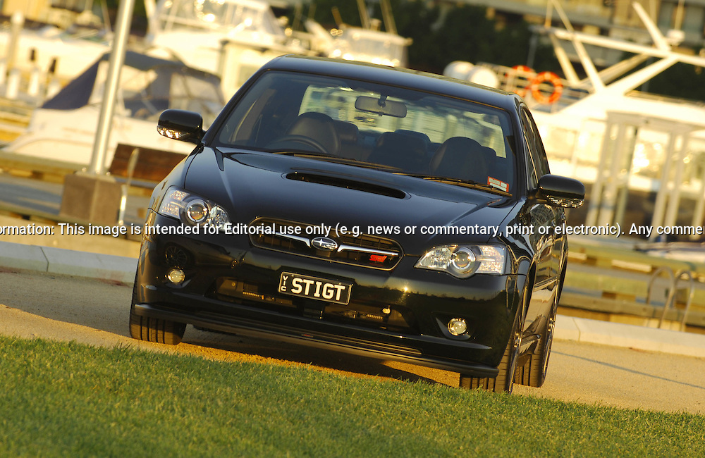 """MY06 Subaru STi GT Liberty """"Tuned by STi"""" - Obsideon Black.Shot on location in Port Melbourne.7th October 2006.(C) Joel Strickland Photographics.Use information: This image is intended for Editorial use only (e.g. news or commentary, print or electronic). Any commercial or promotional use requires additional clearance."""