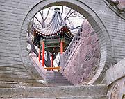 AA01212-01...CHINA - Pavillion at Huaqing Hot Spring near Xi'an.