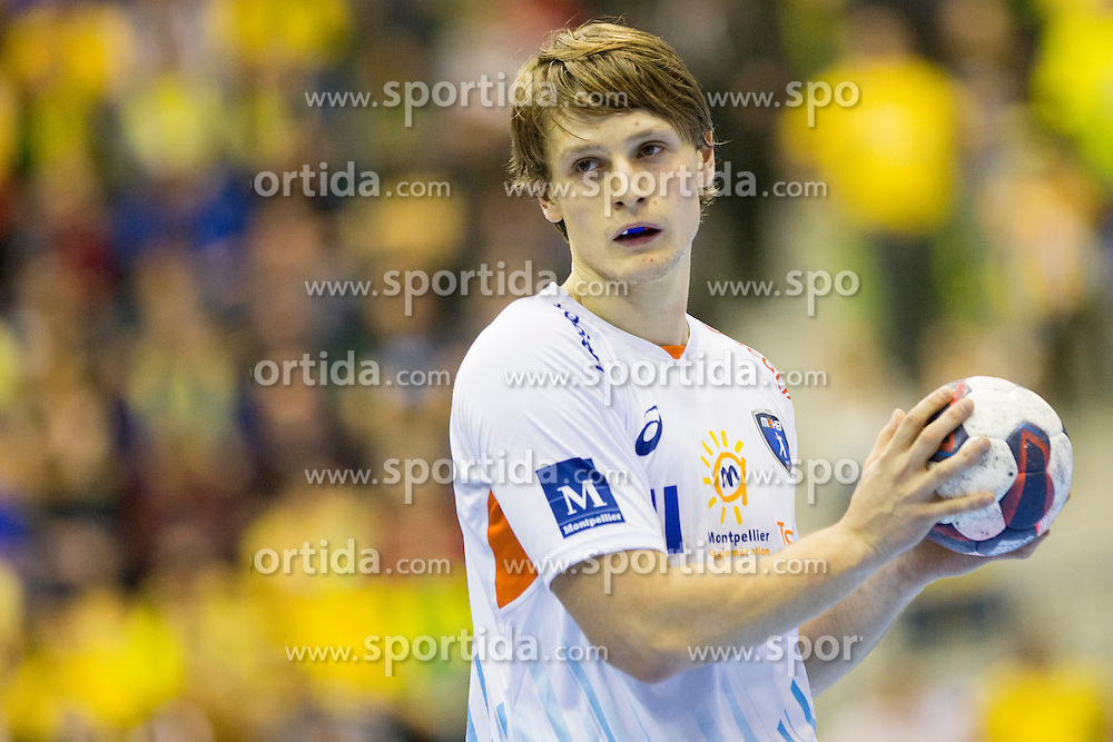 Jure Dolenec #11 of MAHB Montpellier? during handball match between RK Celje Pivovarna Lasko (SLO) and MAHB Montpellier (FRA) in Round 8 of EHF Champions League 2014/15, on December 6, 2014 in Arena Zlatorog, Celje, Slovenia. Photo by Urban Urbanc / Sportida