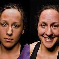 Jacksons MMA Series 7: WMMA fighter Jodie Esquibel poses for Before and After images at the Hard Rock Casino in Albuquerque, NM.