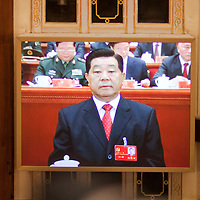 BEIJING, NOV 8, 2012 : He Guoqiang,  secretary of the central commission for discipline inspection, attends the 18th Party Congress of the CPC ( Communist Party Of China ). He is currently  one of the 9 members of the Standing Committee.