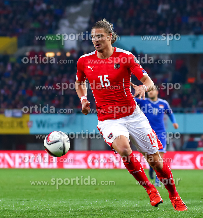 12.10.2015, Ernst Happel Stadion, Wien, AUT, UEFA Euro 2016 Qualifikation, Österreich vs Liechtenstein, Gruppe G, im Bild Sebastian Prödl (AUT) // the UEFA EURO 2016 qualifier group G match between Austria and Liechtenstein at the Ernst Happel Stadion, Vienna, Austria on 2015/10/12. EXPA Pictures © 2015 PhotoCredit: EXPA/ Sebastian Pucher