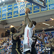 """Delaware 87ers Forward Keith """"Tiny"""" Gallon (41) drives towards the basket in the first half of a NBA D-league regular season basketball game between Delaware 87ers (76ers) and the Erie BayHawks (Knicks) Friday, Jan. 3, 2014 at The Bob Carpenter Sports Convocation Center, Newark, DE"""