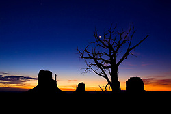 Pre-dawn ~ Monument Valley, Arizona.