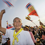Thais take to the streets of Bangkok during anti-government demonstrations.