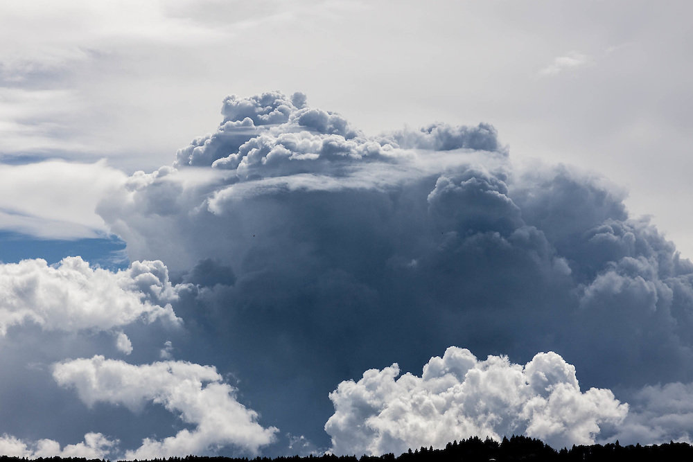 I am always fascinated by the billowing clouds that mass before a storm.<br /> Towering structures that will collapse in a deluge of rain. Brief and beautiful and often ignored and yet when captured through the lens a tribute to natures beauty and power.