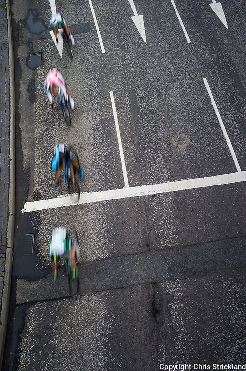 Cyclists competing in the Mens British Cycling National Road Race Championships.