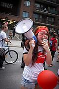 Grande marche contre la hausse des droits de scolarité du 22 mars 2012 à Montréal.