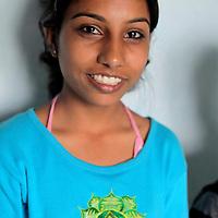 Asia, Nepal, Kathmandu. Nepali girl.
