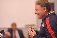 Ole Miss head coach Houston Nutt speaks about the football program during a press conference in Oxford, Miss. on Monday, Sept. 19, 2011.