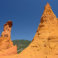 Ochre cliffs at the town of Roussillon,Vaucluse,Provence,France