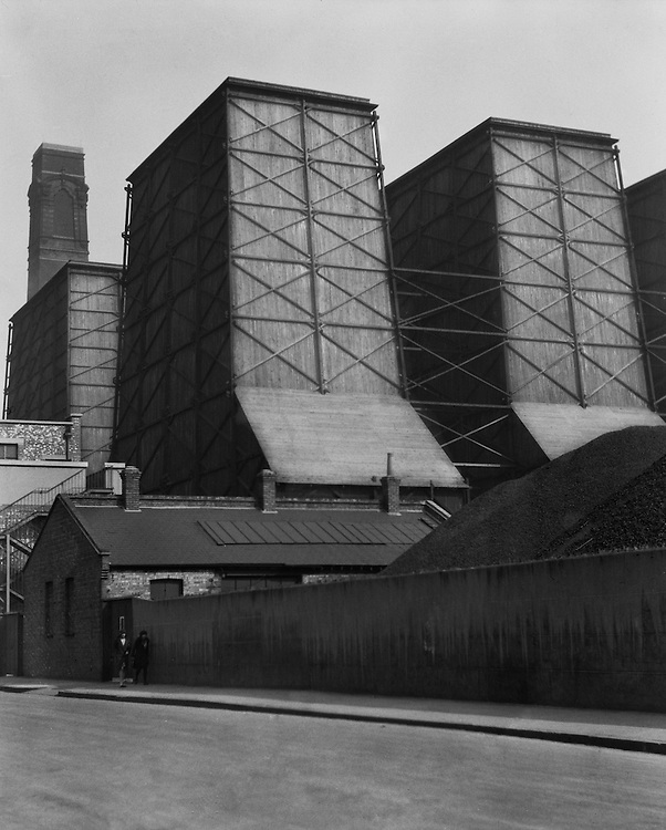 Chimneys of the London Brewery in St. John's Wood, London, England, 1929