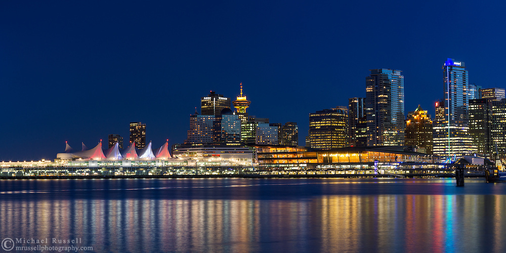 Downtown Vancouver Panorama Michael Russell Photography