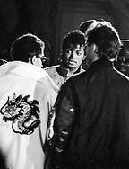 Michael Jackson 1983 filming the 'Beat It video..© Chris Walter.