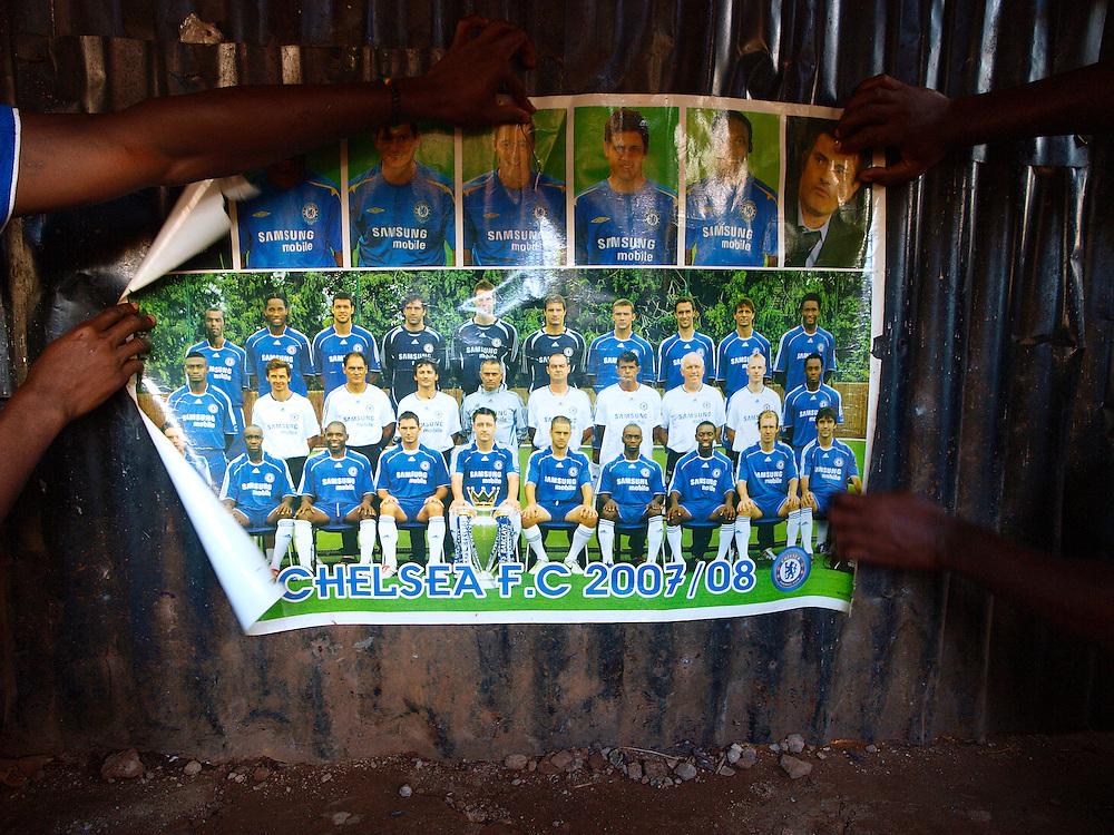 A Chelsea poster, Kroobay, Freetown, Sierra Leone
