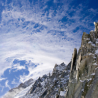 The top of the Grand Montets ski area, Chamonix, France.