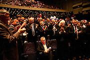 Tomislav Nikolic, seated, during a standing ovation. Serbian Progressive Party (SNS) congress at Sava Center in Belgrade, Serbia. May 15, 2012...Matt Lutton for The Wall Street Journal.BELGRADE