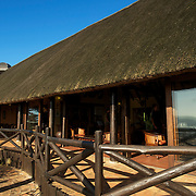 Safari Lodge at the Hluhluwe Umfolozi game reserve.  Northern KwaZulu Natal, South Africa