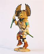 0197-1014B ~ Copyright: George H. H. Huey ~ Hopi Indian carved Great Horned Owl Katsina. Kachina [aka Katsina] dolls/carvings represent spirits that are central to Hopi religion. Artist: Derek Hayah. Arizona.