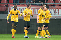 UTRECHT - Utrecht - Roda JC , Voetbal , Eredivisie, Seizoen 2015/2016 , Stadion Galgenwaard , 17-10-2015 ,Roda JC speler Tomi Juric (2e l) scoort de 1-1 en viert dit met zijn ploeggenoten
