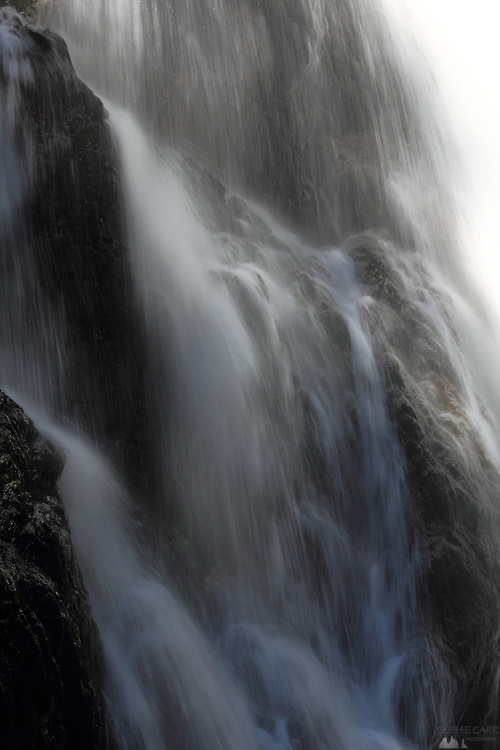 Detail from Myra Falls, at the southern end of Strathcona Provincial Park, just past the Westmin mining area on Vancouver Island