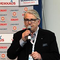 2.4.2012, Helsinki. .Veikkausliigan 2012  Media-avaus..Veikkausliigan puheenjohtaja Lasse Lehtinen