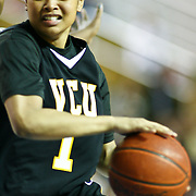VCU (#1) Jennifer Lane scores 10 points during VCU delaware game at the The Bob Carpenter Center In Newark Delaware Thursday Night.