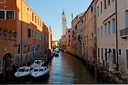 View of Venice, Italy, from one of the main canals. HDR merge of three photos using Photomatix Pro. (Sam Lucero photo)