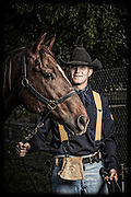 Joshua Burnham and Roper<br /> <br /> 1st Cavalry Division Horse Cavalry Detachment photos by Stacy L. Pearsall