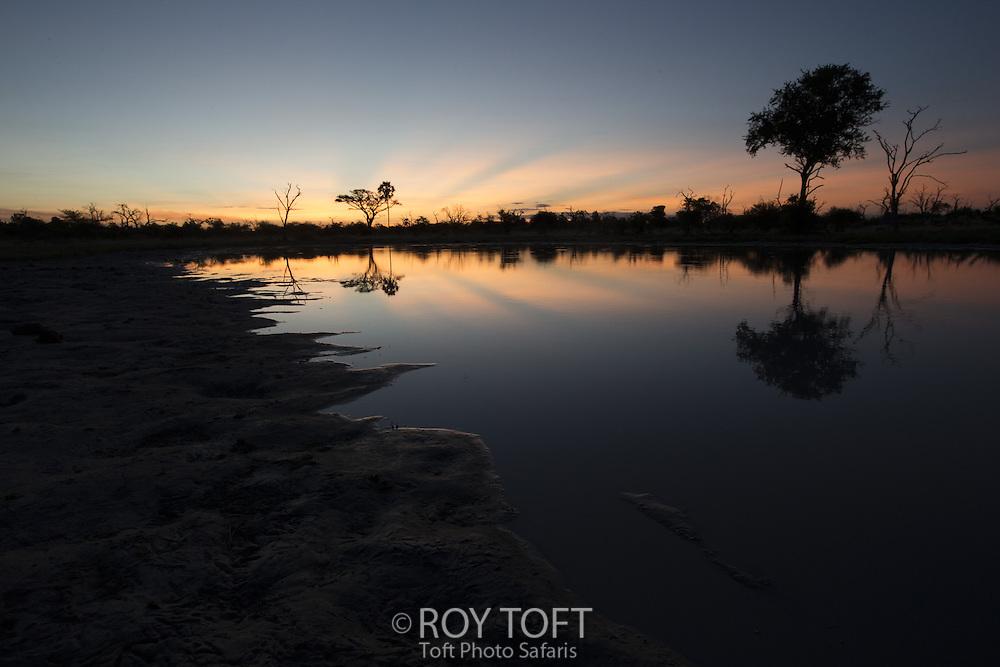 Sunset in Okavango Delta, Botswana