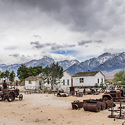 Equipment used in the construction of the Los Angeles Aqueduct 1908-1913 is displayed outdoors at the Eastern California Museum, 155 N. Grant Street, Independence, California, 93526, USA. The Museum was founded in 1928 and has been operated by the County of Inyo since 1968. The mission of the Museum is to collect, preserve, and interpret objects, photos and information related to the cultural and natural history of Inyo County and the Eastern Sierra, from Death Valley to Mono Lake.