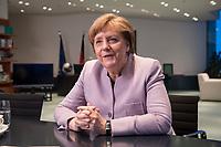 20 MAR 2017, BERLIN/GERMANY:<br /> Angela Merkel, CDU, Bundeskanzlerin, waehrend einem Interview, in ihrem Buero, Bundeskanzleramt<br /> IMAGE: 20170320-01-004<br /> KEYWORDS: B&uuml;ro