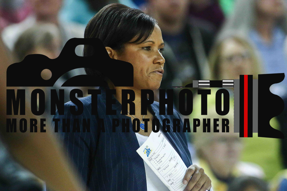 Chicago Sky Head Coach POKEY CHATMAN seen on the side lines in the first period of a WNBA preseason basketball game between the Chicago Sky and the New York Liberty Sunday, May. 01, 2016 at The Bob Carpenter Sports Convocation Center in Newark, DEL