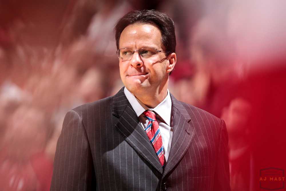 12 January 2013: Indiana head coach Tom Crean as the Indiana Hoosiers played the Minnesota Golden Gophers in a college basketball game in Bloomington, Ind.