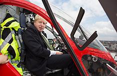 MAY 29 2014 Mayor Boris Johnson to open new hospital helipad