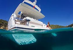 Jaguar catamarans pohotshooting in Mallorca  May 2014. © jesús renedo