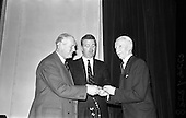 1963 - Royal Horticultural Society of Ireland Presentation of Gold medals for Rose growing
