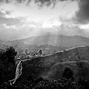 Black &amp; White photographs from Sri Lanka<br /> Waterfall in the hill country
