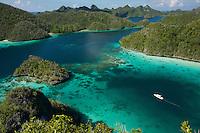 Wayag Islands are an uninhabited group of uplifted limestone (karst) islands NW of Waigeo.