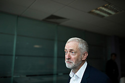 &copy; Licensed to London News Pictures. 22/04/2017. MANCHESTER , UK.  <br /> <br /> Labour Party leader JEREMY CORBYN at Unison offices, Hunts Bank, Manchester today (SATURDAY 22/4/17) as part of the Labour Party's general election campaign. Campaigning has begun for a snap election which was called by British Prime Minister Theresa May, earlier this week.  He talked to activists and manned th ephones to call a member of the public.<br />   <br /> Photo credit: CHRIS BULL/LNP