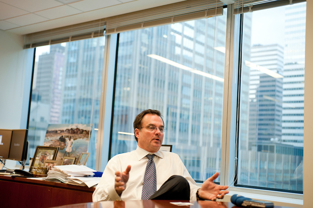 Craig S. Phillips, managing director at BlackRock solutions, in his office..BlackRock headquarters on 52nd street in Manhattan, New York City..Blackrock is the world's largest money managing company. According to Fortune magazine 'With more than $3 trillion in assets, Larry Fink and his team at BlackRock are the world's largest money managers'.
