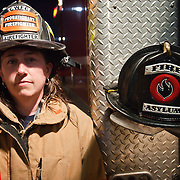 Portrait of one of the worlds bravest Camden-Wyoming Fire fighter Maria Payne Wednesday, July 6, 2011, in Camden-Wyoming Delaware.